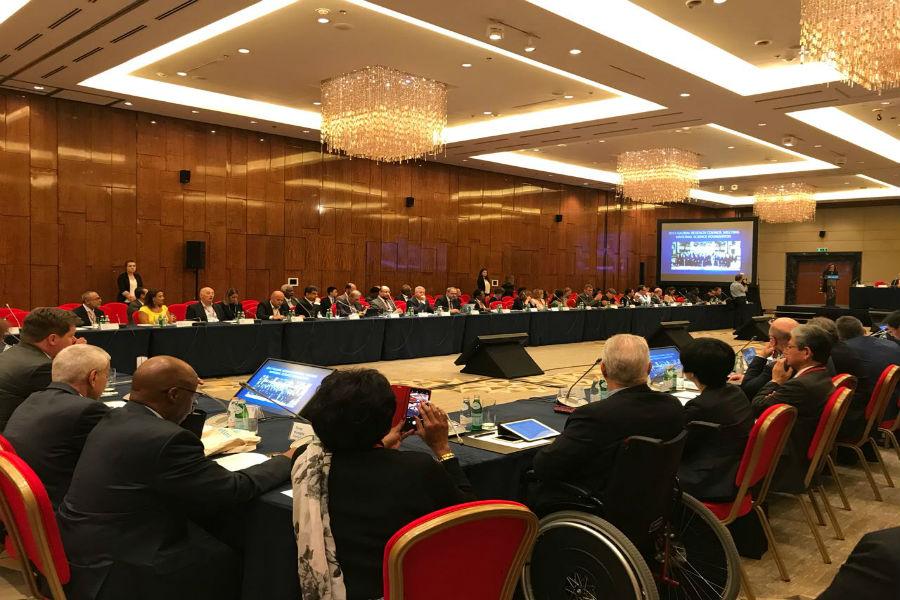 مجلس البحث العلمي يشارك في اجتماع المجلس العالمي للبحوث بروسيا